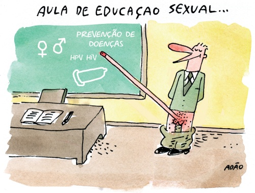 aula de educacao sexual